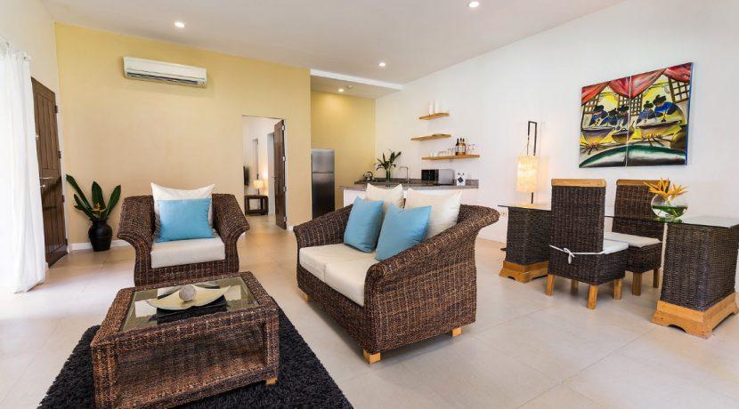 Garden apartment lounge